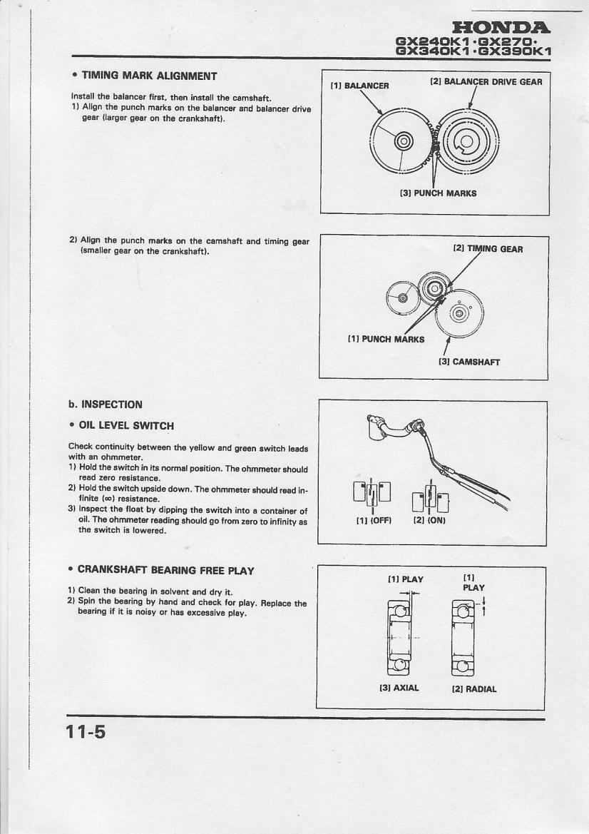 Useful Information Honda Gx200 Wiring Diagram Engine Timing Crankshaft Camshaft Balance Shaft